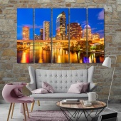 Tampa night city, Florida wall decor ideas for living room