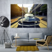 Sport car wall art office, car artistic prints on canvas