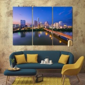 Texas living room wall decor