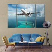 A passenger plane contemporary canvas wall art for office