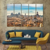 Rome artistic prints on canvas, Italy home decor paintings