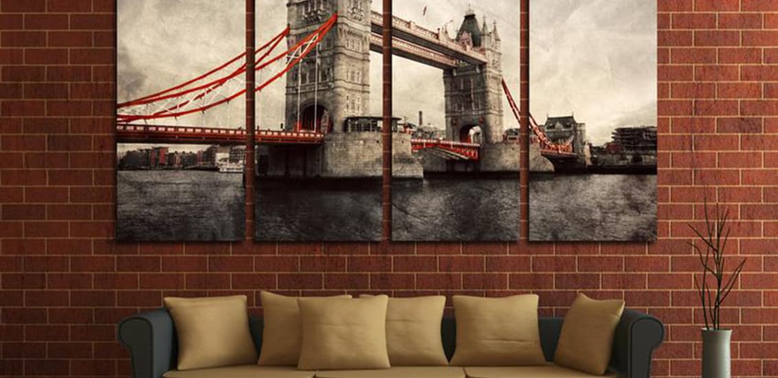 Room posters cityscapes skylines bridge in London
