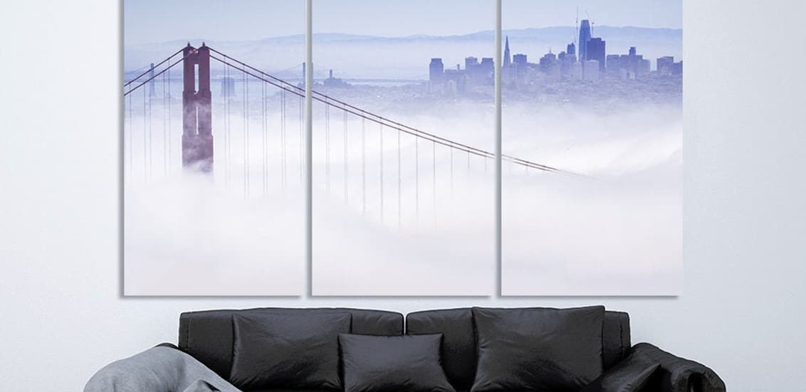 Room posters cityscapes skylines bridge in the clouds