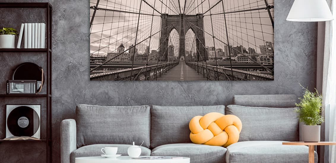 Room posters cityscapes skylines brooklyn bridge