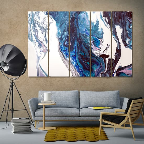Colorful abstract painting decorations