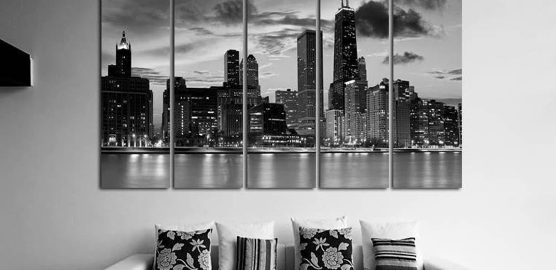 Room posters cityscapes skylines night city