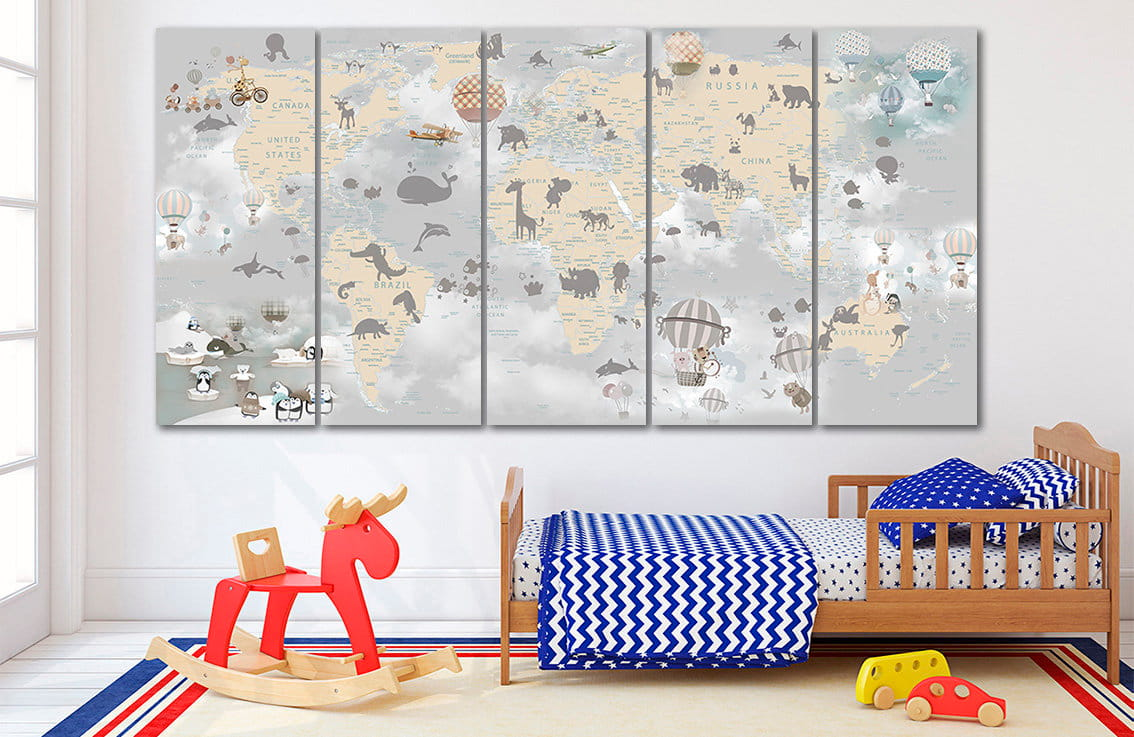 Room posters Nursery Map