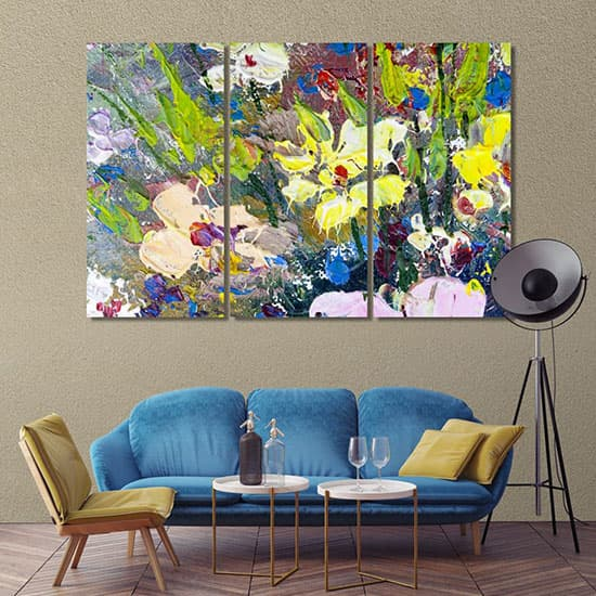Floral abstract wall art for office