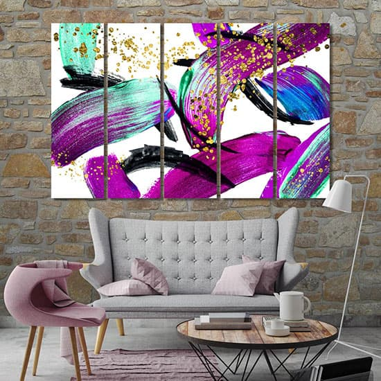 Oil painting abstract modern poster room art