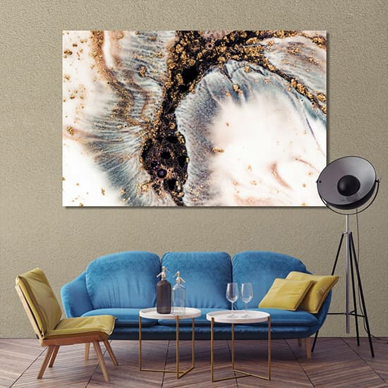 Abstract paint stains wall art