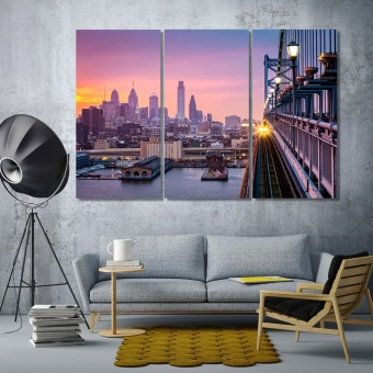 Philadelphia living room wall decor ideas, Pennsylvania wall artwork