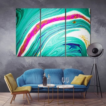 Paint is flowing abstract painting large wall art for living room