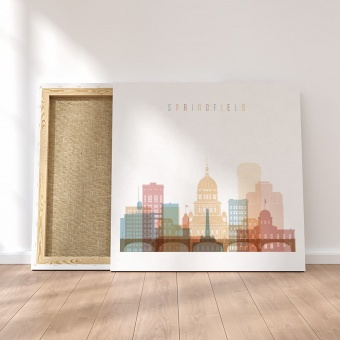 Springfield canvas wall paintings, Illinois wall art office