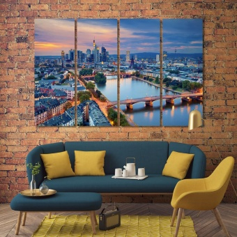 Frankfurt am Main modern art deco, Germany canvas prints art