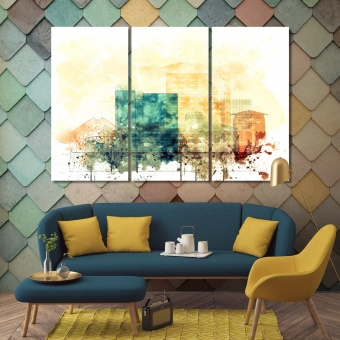 Riverside large modern wall art, California living room wall