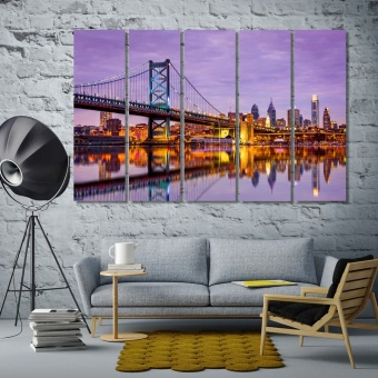 Ben Franklin bridge in Philadelphia cool wall decor, Pennsylvania
