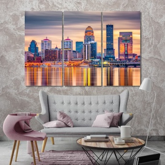 Louisville modern contemporary wall art, Kentucky wall art design