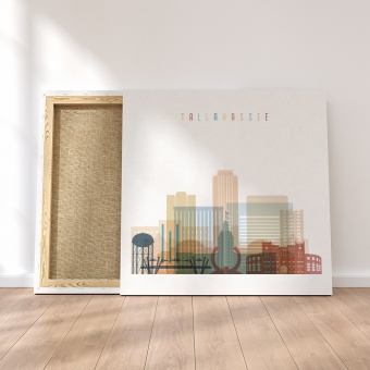 Tallahassee framed canvas wall art, ‎Florida decor for large walls