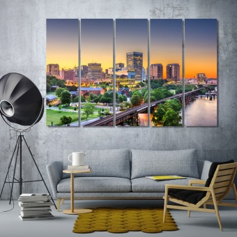 Richmond large wall art canvas, Virginia large artwork
