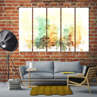 Bucharest large artwork for living room, Romania canvas prints art