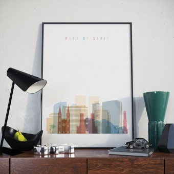 Port of Spain home decor print, Trinidad and Tobago wall art designs