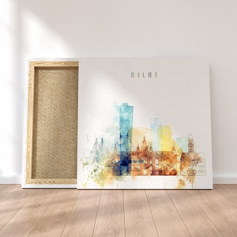Malmo modern art for home, Sweden watercolor painting