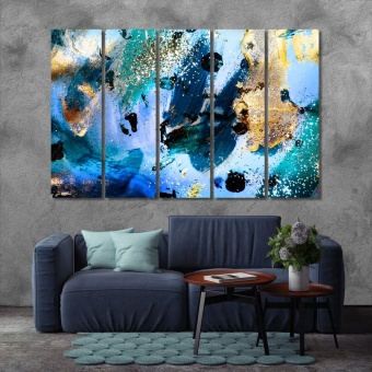 Trendy abstract painting wall decor and home accents