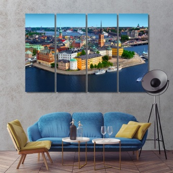 Stockholm wall pictures for bedroom, Sweden canvas wall art