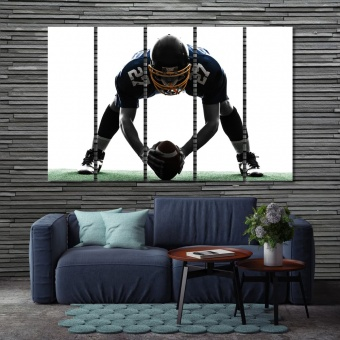 American football player wall decorating ideas pictures