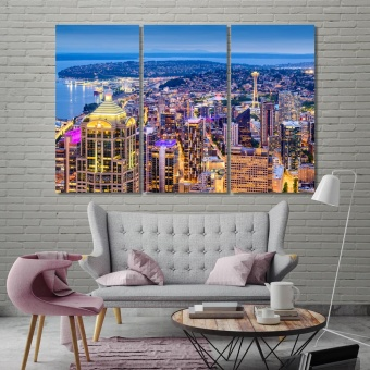 Seattle designer wall decor, Washington office artwork ideas