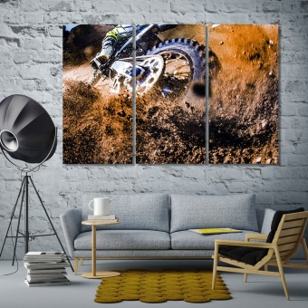Motocross office pictures for walls, motorcycle racing artworks decor