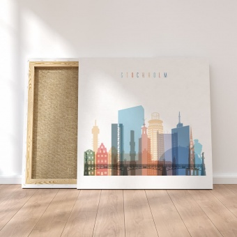 Stockholm canvas wall art, Sweden wall decor and home accents