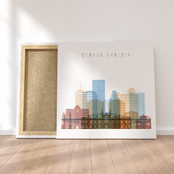 Corpus Christi canvas wall art, Texas cool modern artwork