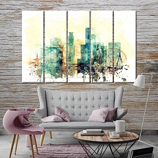 Osaka modern canvas wall art, Japan paintings for living room