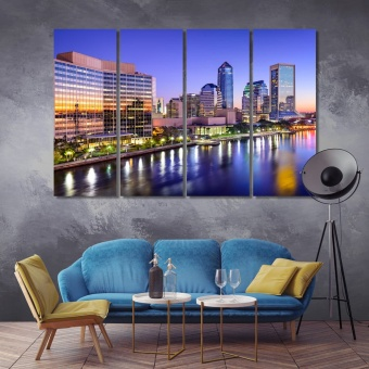Jacksonville painting for living room, Florida canvas art home decor