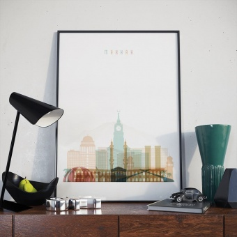 Makkah wall art print, Saudi Arabia art print decor