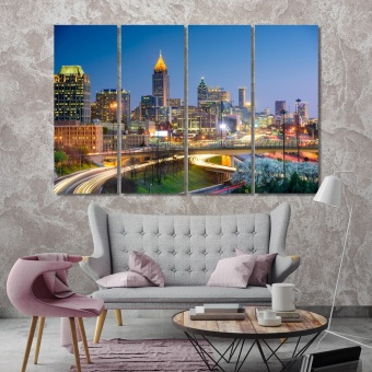 Atlanta large modern wall art, Georgia home artwork