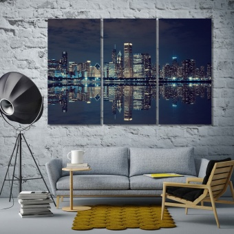 Chicago wall decor living room ideas, ‎Illinois artwork for home