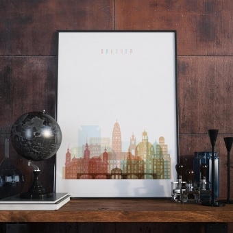 Dresden art print, Germany wall art for the kitchen