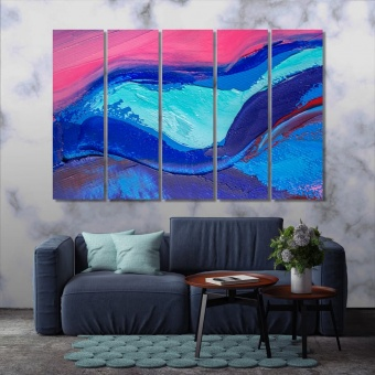 Modern abstract wall art, oil painting on the canvas