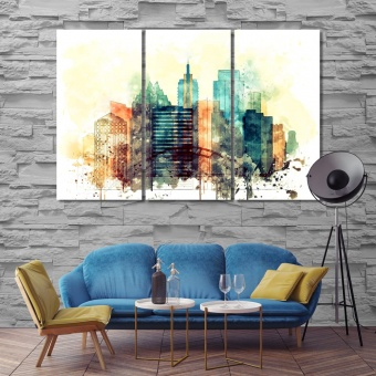 Austin large wall decorating ideas, Texas watercolor drawing