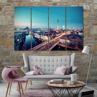 Berlin art for living room, Germany canvas prints art