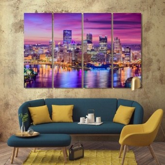 Pittsburgh artwork for offices, Pennsylvania wall art designs