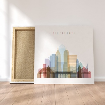 Cincinnati framed canvas wall art, ‎Ohio dining wall decor