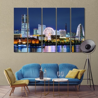Yokohama pictures for living room, Japan decoration wall