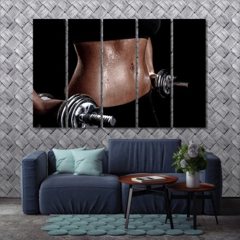Fitness large wall decoration