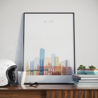 Malmo wall decor poster, ‎Sweden living room wall pictures