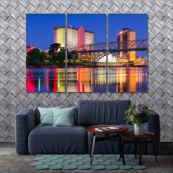 Shreveport living room art decor, Louisiana wall art frames