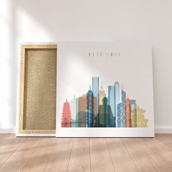 Hong Kong framed canvas wall art, home goods wall art