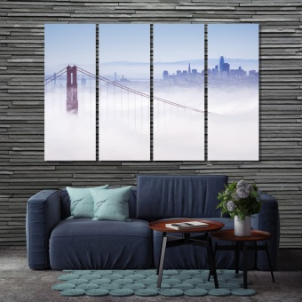 Golden Gate large artwork for walls, San Francisco decoration wall